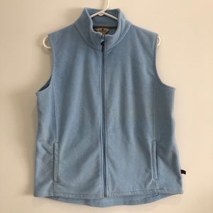 Women's Woolrich Light Blue Zip-Up Fleece Vest